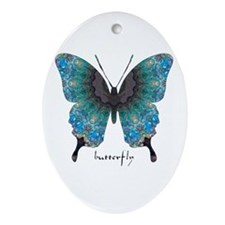 Transformation Butterfly Ornament (Oval)
