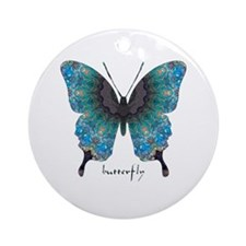 Transformation Butterfly Ornament (Round)