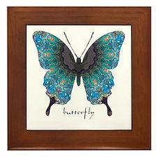 Transformation Butterfly Framed Tile