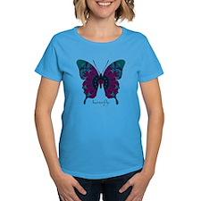 Luminescence Butterfly Women's Dark T-Shirt