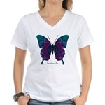 Luminescence Butterfly Women's V-Neck T-Shirt
