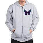 Luminescence Butterfly Zip Hoodie