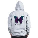 Luminescence Butterfly B Zip Hoodie