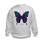 Luminescence Butterfly Kids Sweatshirt