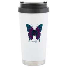 Luminescence Butterfly Stainless Steel Travel Mug