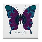 Luminescence Butterfly Tile Coaster