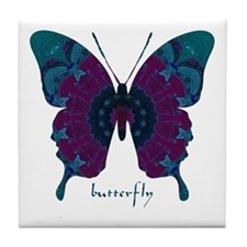 Luminescence Butterfly Tile Coaster