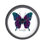 Luminescence Butterfly Wall Clock