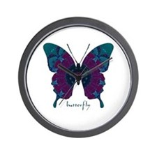 Luminescence Butterfly Wall Clock