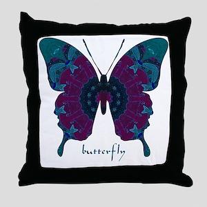 Luminescence Butterfly Throw Pillow