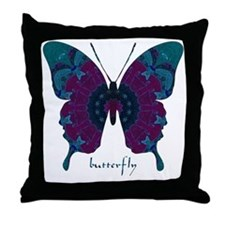 Luminescence Butterfly Throw Pillow