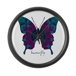 Luminescence Butterfly Large Wall Clock