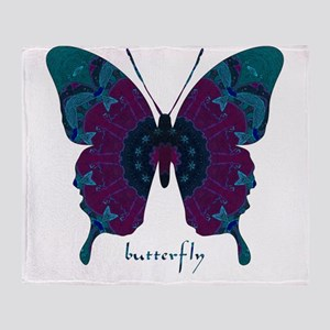 Luminescence Butterfly Throw Blanket