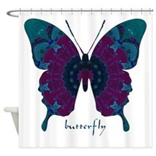 Luminescence Butterfly Shower Curtain