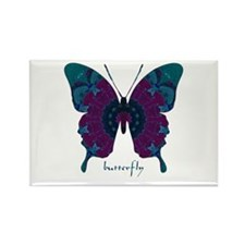 Luminescence Butterfly Rectangle Magnet