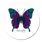 Luminescence Butterfly Round Car Magnet