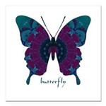 Luminescence Butterfly Square Car Magnet 3