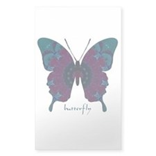 Luminescence Butterfly Sticker (Rectangle)
