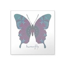 Luminescence Butterfly Square Sticker 3