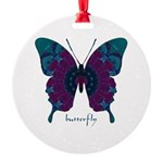 Luminescence Butterfly Round Ornament