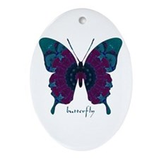 Luminescence Butterfly Ornament (Oval)
