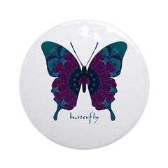 Luminescence Butterfly Ornament (Round)