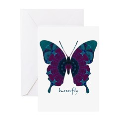 Luminescence Butterfly Greeting Card