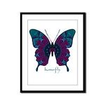 Luminescence Butterfly Framed Panel Print