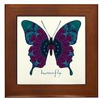 Luminescence Butterfly Framed Tile
