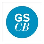 "GSCB Square Car Magnet 3"" x 3"""