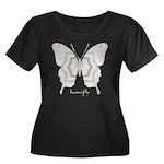 Purity Butterfly Women's Plus Size Scoop Neck Dark
