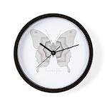 Purity Butterfly Wall Clock