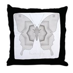Purity Butterfly Throw Pillow