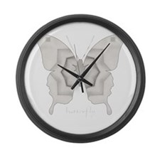Purity Butterfly Large Wall Clock