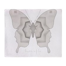 Purity Butterfly Throw Blanket