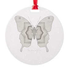 Purity Butterfly Round Ornament