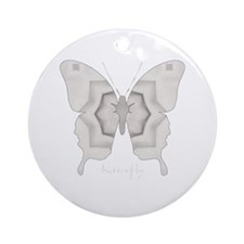 Purity Butterfly Ornament (Round)