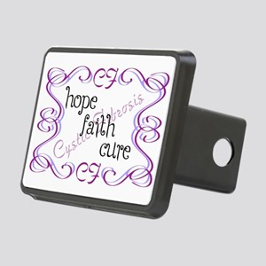 CF Hope Faith Cure Curls Rectangular Hitch Cover
