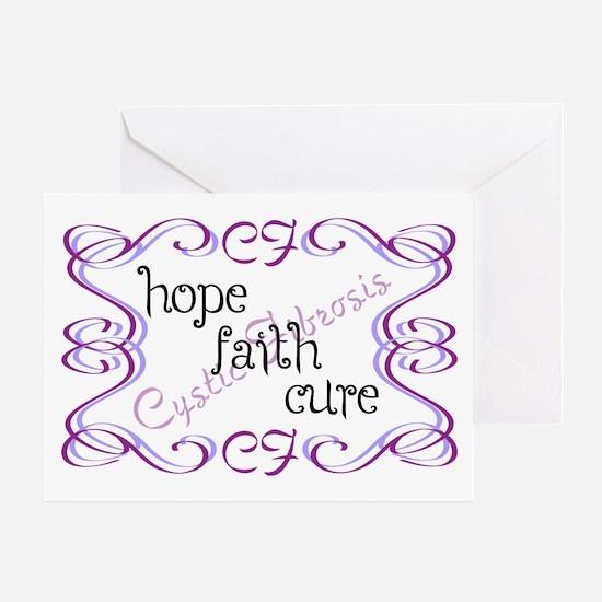 CF Hope Faith Cure Curls Greeting Card