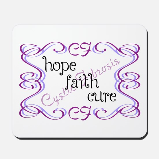 CF Hope Faith Cure Curls Mousepad