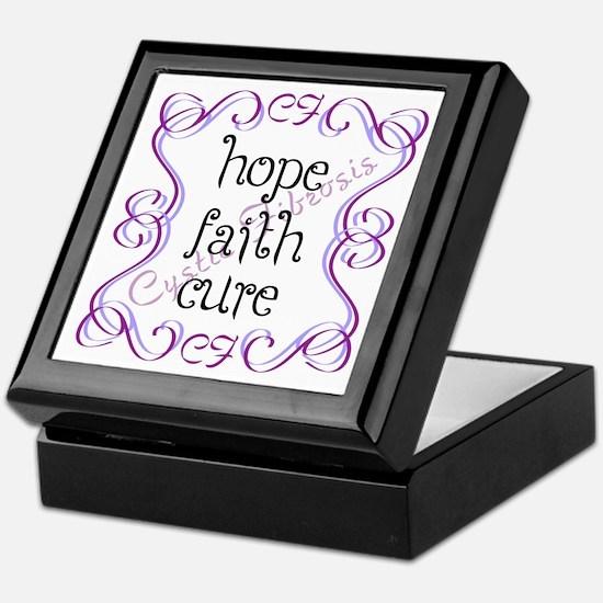CF Hope Faith Cure Curls Keepsake Box