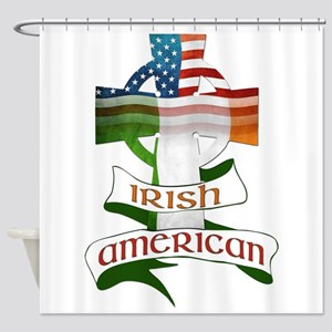 Irish American Celtic Cross Shower Curtain