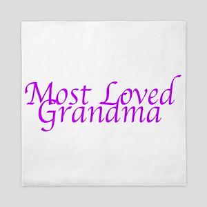 Most Loved Grandma Queen Duvet