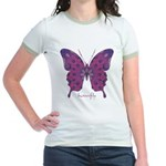 Princess Butterfly Jr. Ringer T-Shirt