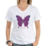 Princess Butterfly Women's V-Neck T-Shirt