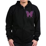 Princess Butterfly Zip Hoodie (dark)