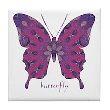 Princess Butterfly Tile Coaster