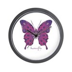 Princess Butterfly Wall Clock