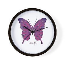 Princess Butterfly Wall Clock