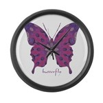 Princess Butterfly Large Wall Clock